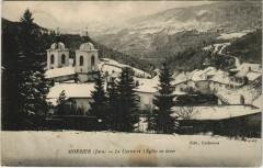 Morbier - Le Centre et l'Eglise en hiver - Morbier
