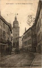 Saint-Amour La Rue de Bresse et le Clocher. - Saint-Amour