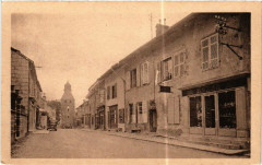 Nozeroy Grande Rue et Tour de l'Horloge - Nozeroy