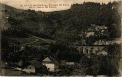 Au Col des Roches-Passage du Train sur le Viaduc de Malpas - Malpas