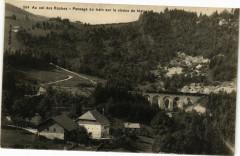 Au col des Roches - Passage du train sur le viaduc de Malpas - Malpas