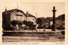 Meurcourt - Place du Centre - La Fontaine - Meurcourt
