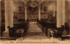 Blondefontaine - Intérieur de Eglise - Blondefontaine