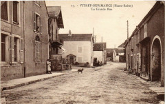 Vitrey-sur-Mance (Haute-Saone) - La Grande Rue - Vitrey-sur-Mance