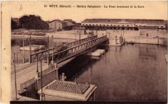 Le Pont tournant et la Gare - Sète