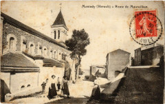 Montady (Herault) - Route de Maureilhan - Montady