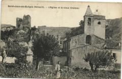 Saint-Jean-de-Buéges (Hérault) -L'Eglise et le vieux Cháteau - Saint-Jean-de-Buèges