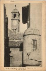 Aramon - L'Horloge del'Eglise vue pris du Quai du Rhone - Aramon