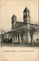 Saint-Hippolyte du Fort - Le Temple et Groupe Scolaire - Saint-Hippolyte-du-Fort