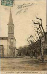 Saint-Hippolyte-du-Fort - Eglise et Cours Gambetta - Saint-Hippolyte-du-Fort