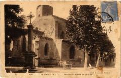 Roquemaure - La Croix de mission et abside de l'Eglise - Roquemaure