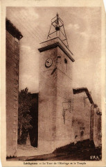 Lédignan - La Tour de l'Horloge et le Temple - Lédignan