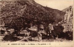 La Malene - Vue générale - Gorges du Tarn - La Malène