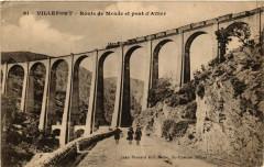 Villefort - Route de Mende et pont d'Altier - Villefort