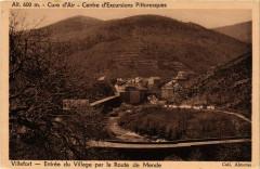 Villefort - Entrée du Village par la Route de Mende - Villefort