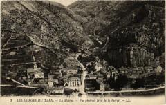 La Malene - Vue générale prise de la Vierge - Gorges du Tarn - La Malène