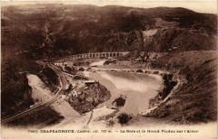 Chapeauroux - La Gare et le Grand Viaduc sur l'Altier - Altier