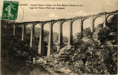 Grand Viaduc d'Altier dit Pont Bayard (haut. 70 m) Ligne de Nimes - Altier