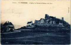 Turenne - L'Eglise - Les Ruines du Chateau et la Tour - Turenne