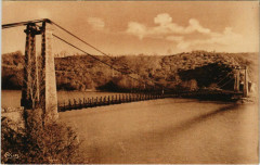 Evaux les Bains Pont suspendu de Saint-Marien France - Saint-Marien