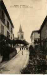 Nieul Le Clocher et la rue des Perrons - Nieul