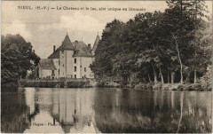 Nieul - Le Chateau et le lac site unique en limousin - Nieul