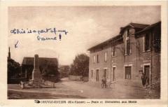 Neuvic-Entier (Hte-Vienne) - Poste et Mon. aux Morts - Neuvic-Entier