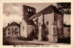 Saint-Priest-Ligoure (Hte-Vienne) - L'Eglise - Saint-Priest-Ligoure