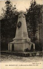 Macqueville - Le Monument aux Morts - Macqueville