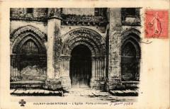 Aulnay-de-Stonge - L'Eglise - Porte principale - Aulnay