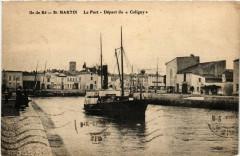 Ile-de-Re - Saint-Martin-de-Re - Le Port - Depart du Coligny - Saint-Martin-de-Ré