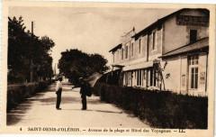 Saint-Denis-d'Oleron - Avenue de la plage et Hotel des Voyageurs - Saint-Denis-d'Oléron