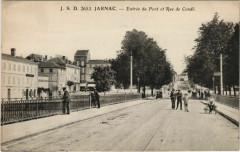Jarnac Entree du Pont et Rue de Conde France - Jarnac