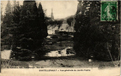 Chatellerault Vue générale du Jardin Public - Châtellerault