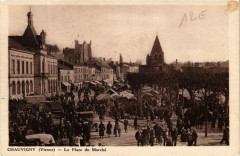 Chauvigny La Place du Marche - Chauvigny