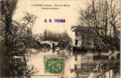 Civray Pont des Barres - Vue prise en bateau - Civray