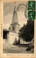 Mazeuilt - Le Clocher Roman de l'Eglise - Mazeuil