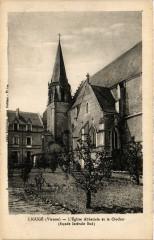 Liguge - L'Eglise Abbatiale et le Clocher - Ligugé