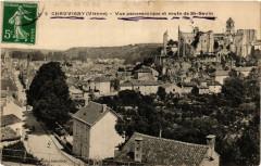 Chauvigny - Vue panoramique et route de Saint-Savin - Chauvigny