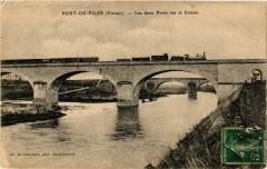 Port-de-Piles - Les deux Ponts sur la Creuse - Port-de-Piles