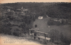 7. Gargilesse (Indre). Gargilesse vu d'en haut (c.1920)  - Gargilesse-Dampierre