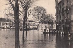 223. Les Inondations a Nantes (Février 1904). Quais des Tanneurs et Duquesne (February 1904)  - Nantes