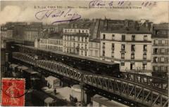 Métro - Station Aubervilliers sur le Boulevard de la Villette - Paris 10e