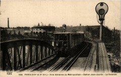 Voie aérienne du Métropolitain - Station Jean-Jaurès - La Rotonde - Paris 19e