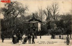 Buttes-Chaumont - Entrée de la rue Secrétan 75 Paris 19e