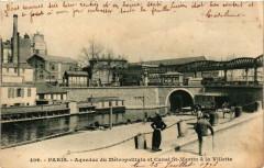 Aqueduc du Métropolitain et Canal Saint-Martin à la Villette - Paris 10e