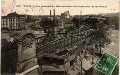 Vue générale du Métropolitain, au rond-point de la Villette - Paris 19e