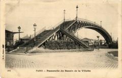 Passerelle du Bassin de la Villette - Paris 19e