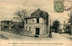 La Rue des Saules et la Rue de l'Abreuvoir à Montmartre - Paris 18e