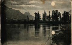 Banlieue de Grenoble - Clair de Lune sur l'Isere a l'Ile d'Amour 38 Grenoble